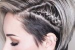 Ash Blonde Side Braided Hairstyle