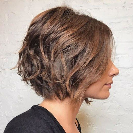 Wavy Inverted Bob Hairstyle