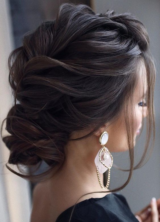 Loose Twisted Updo Hairstyle