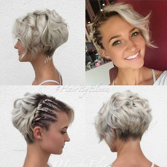 Ash Blonde Side-braided Hairstyle