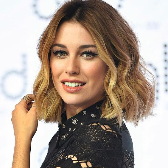 Short Hairstyle with Middle Part