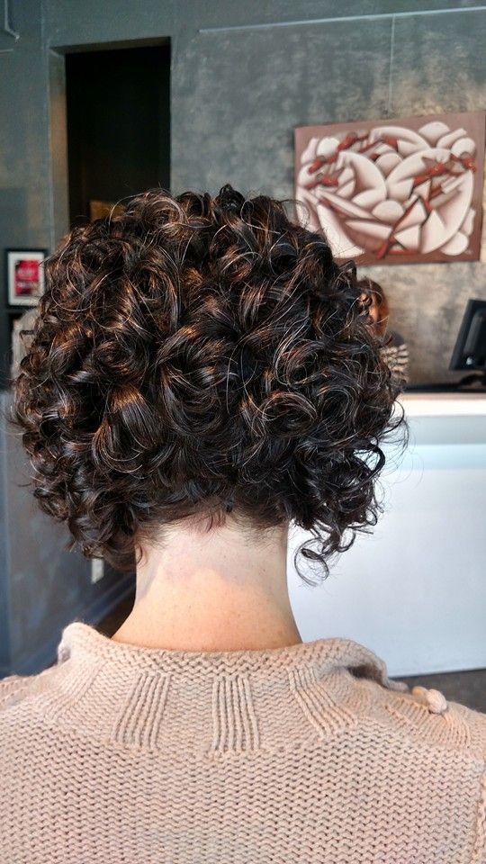 Spiral and Firm Perm Hairstyle