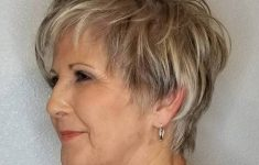 Short Hairdos for Older Women to Liven Your Look Up and Take Years Off of Your Face 4-feathered-gray-cut-with-highlights-and-lowlights-235x150