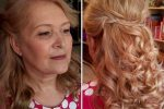 Beautiful Wavy Half Up Do