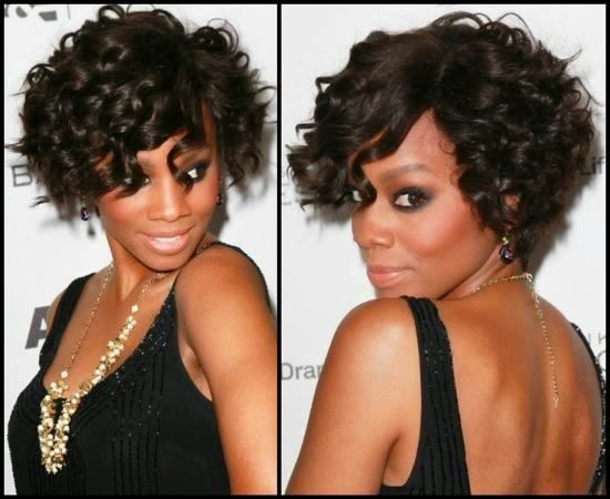 Side Parted Curly Women Style