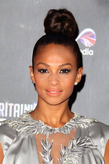 Alesha Dixon Sky High Bun Hairstyle