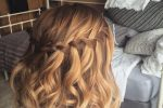 Pretty Waterfall Braid Hairdo