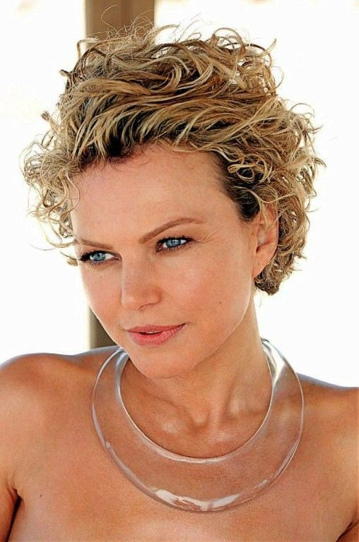 Curly Short Side Parting Hairstyle