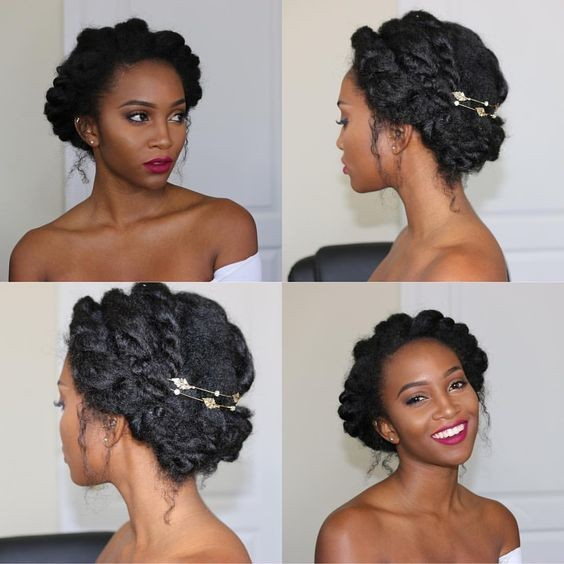 7 Awesome But Easy African American Wedding Hairstyles