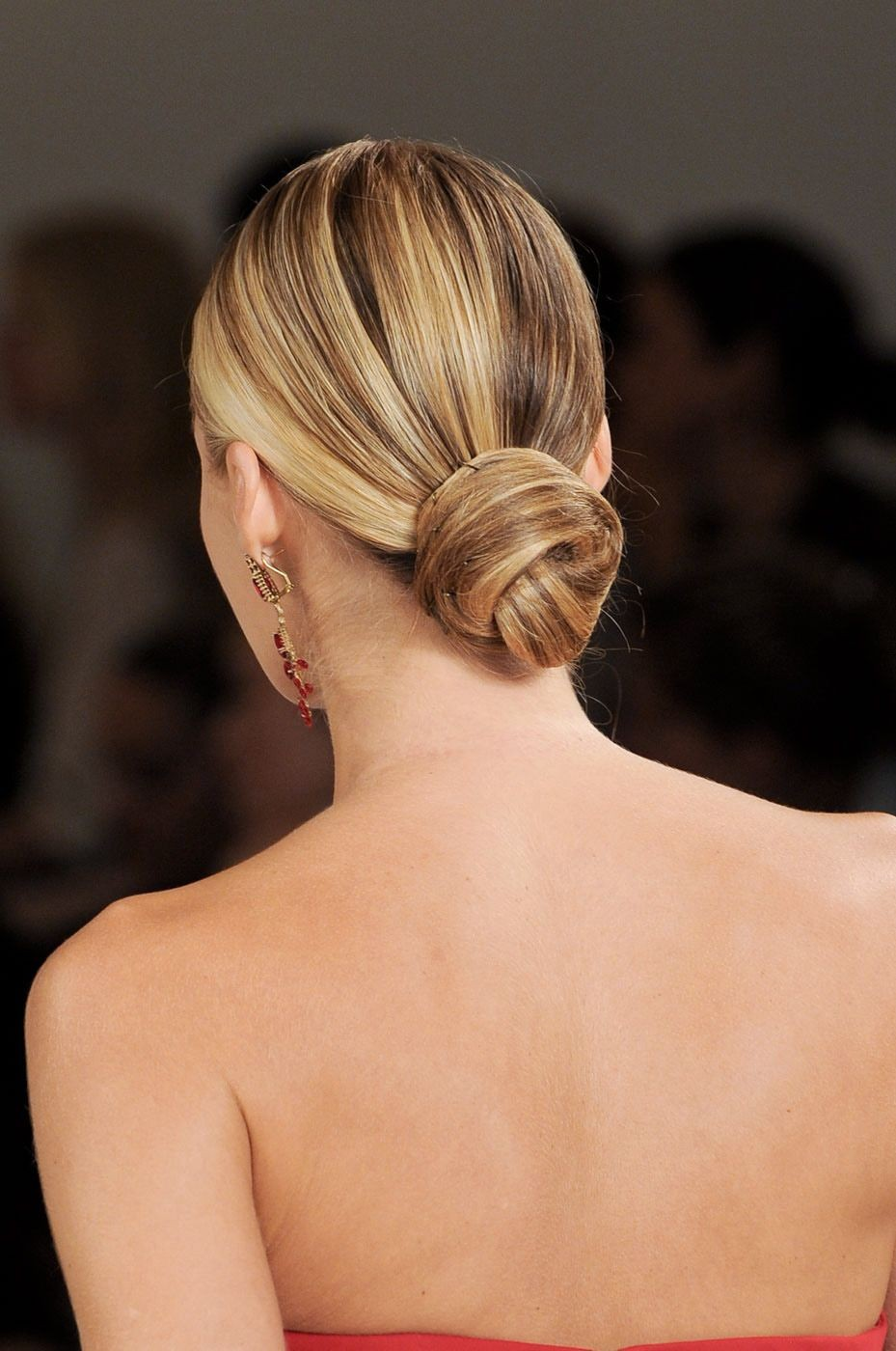 Low Knotted Bun Short Hairstyles 2019