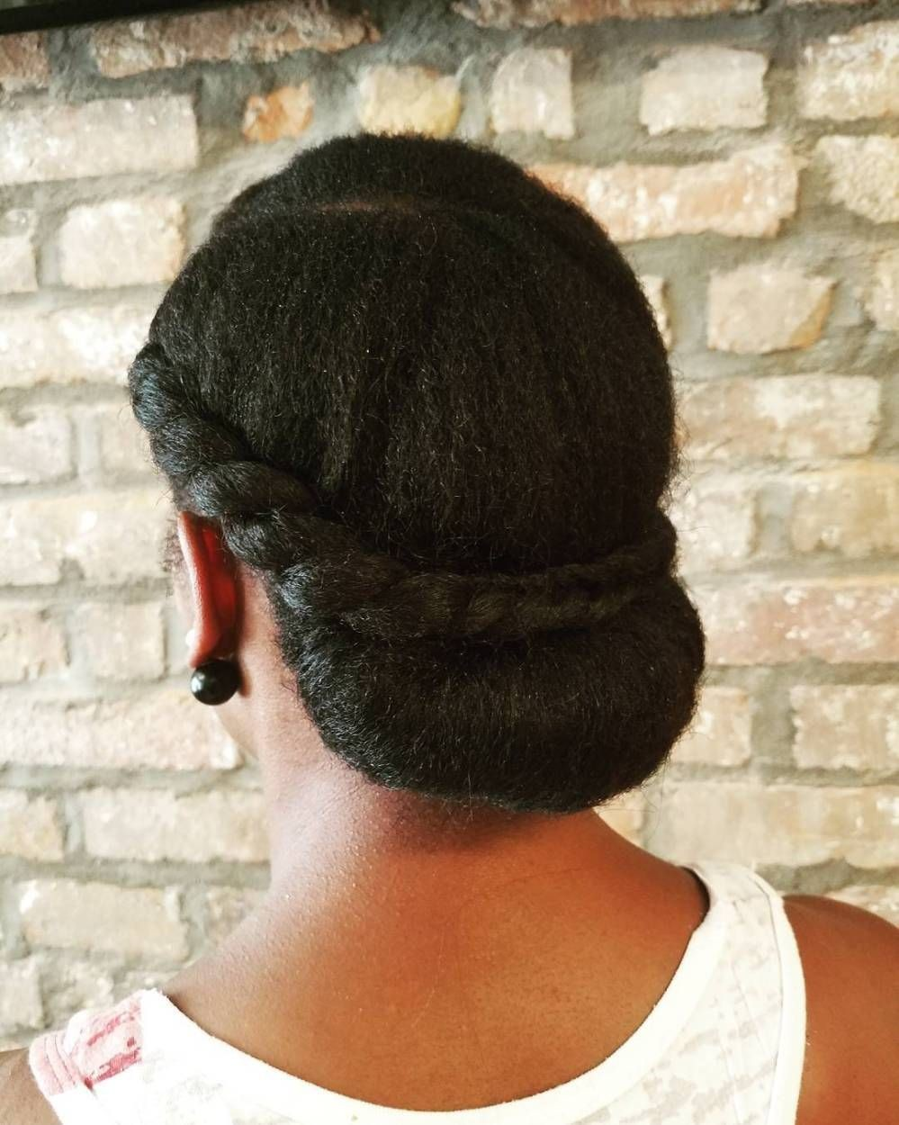 Braided Crown with Low Bun