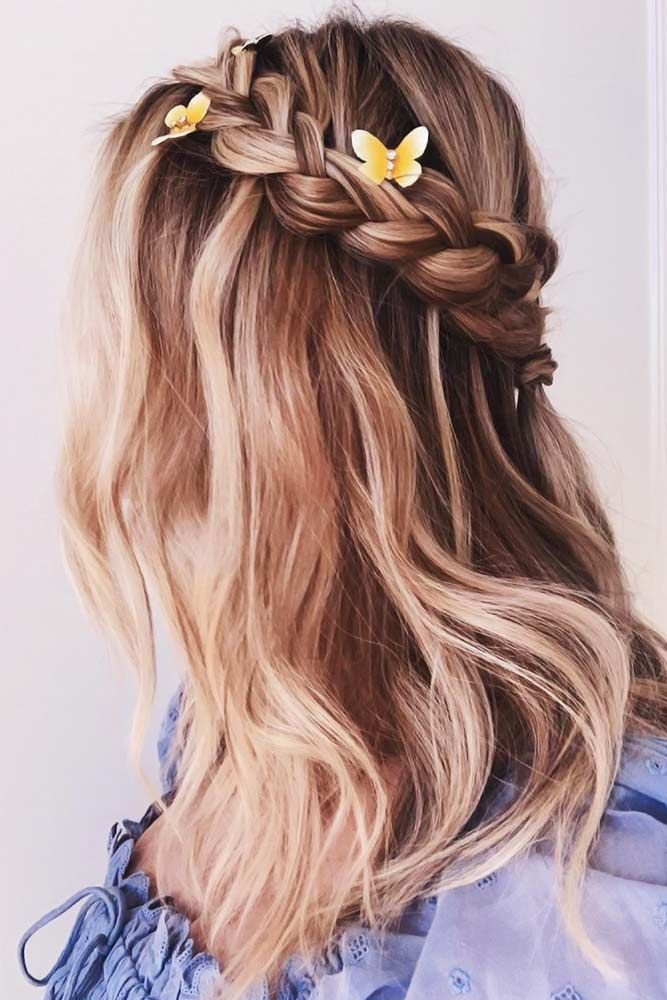 Romantic Bohemian Wedding Hairstyle