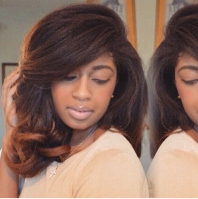 Shoulder-length Blowout with Curls