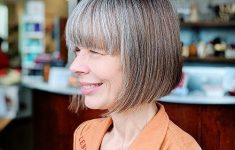 8 Stunning Women's Hairstyles for Gray Hair to Look Younger 0afb9e4cfcd64790eb41b22b7537626e-235x150