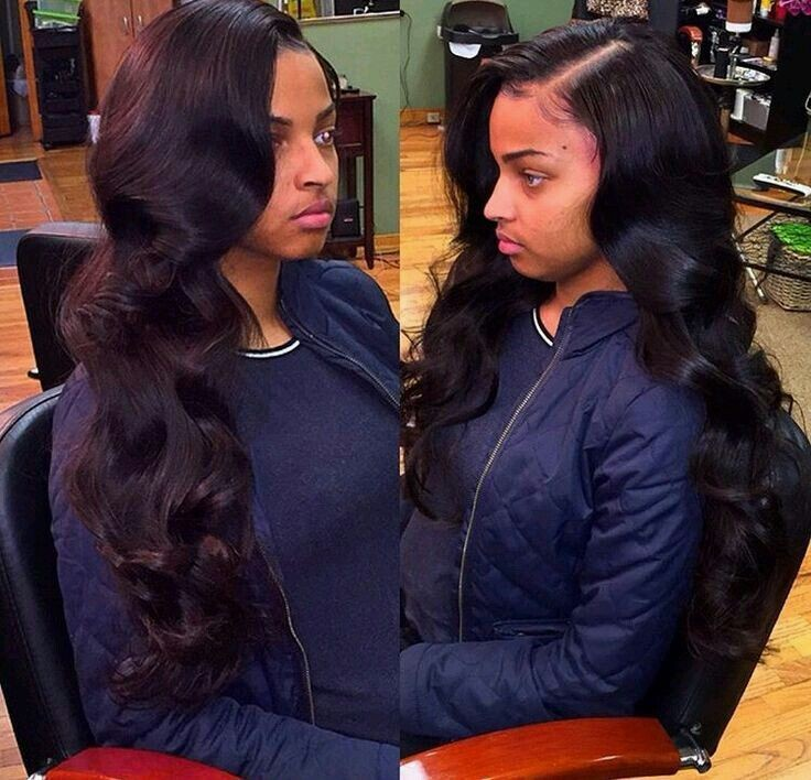 Full Sew-in with Body Curls