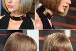 Natural Neck Length Haircut With Bangs
