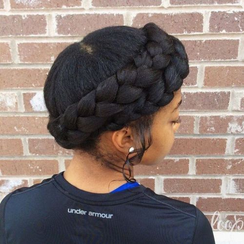 Braided Crown as Short Braided Hairstyle
