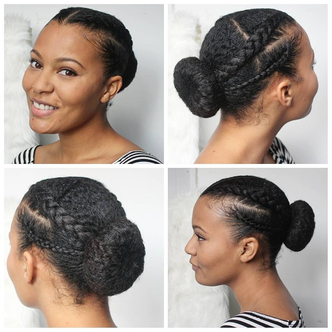 Messy Buns Braid Hairstyle for Short African Hair