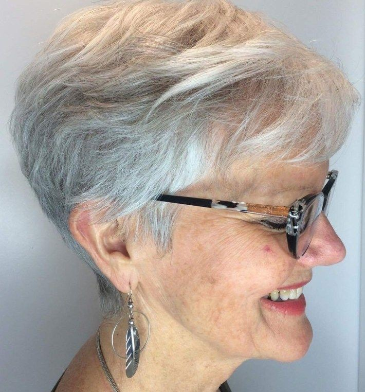 Tapered Pixie with Bangs