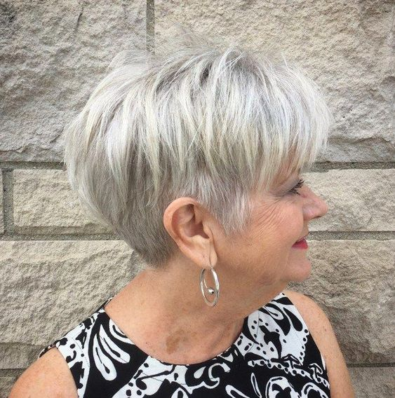 Wedge Hairstyle for Women Over 60 5