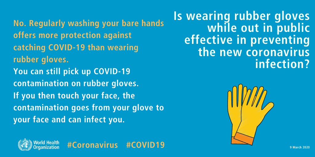 The Essentials Things to Do to Not Get Infected by Virus wearing-gloves