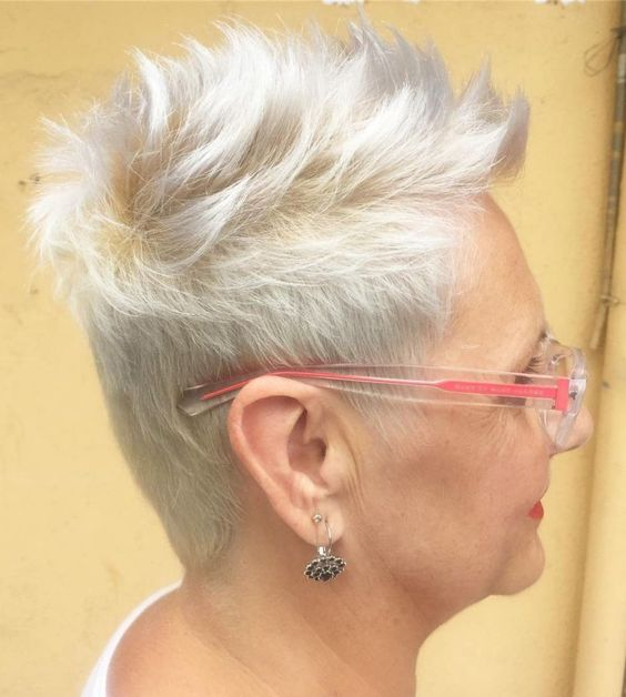 45 Perfect Spiky Hairstyles for Older Women (Updated 2021) Spiky-undercut