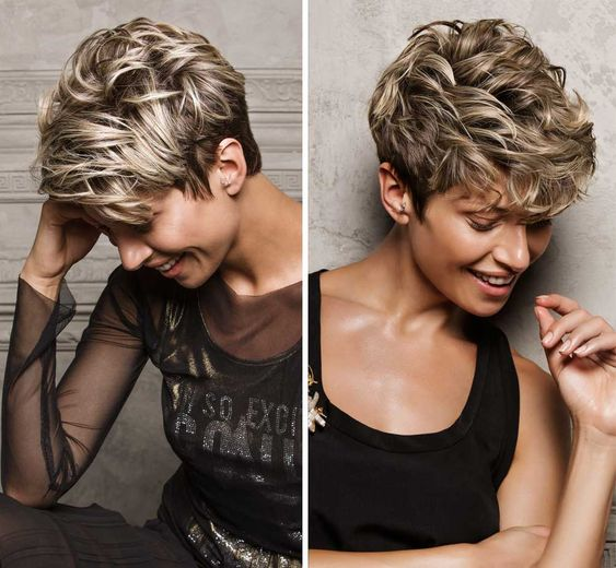 40 Different Types of Short Spiky Haircuts that Look Awesome in 2020 Textured-spiky-curls