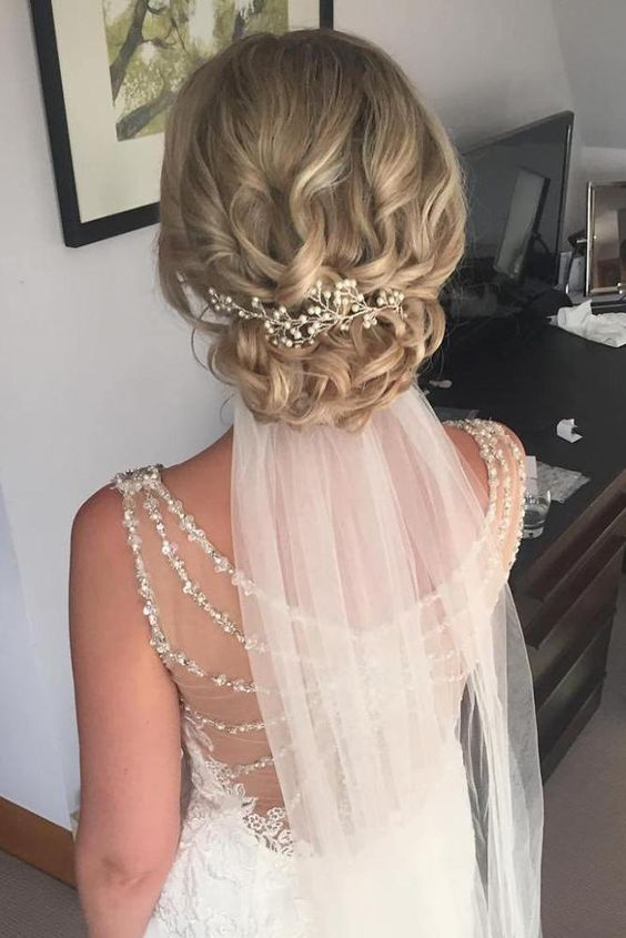 40 Different Types of Wedding Hairstyles that Look Gorgeous Wedding-hairstyles-with-low-veil