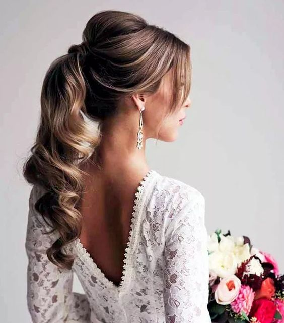 40 Different Types of Wedding Hairstyles that Look Gorgeous Wedding-hairstyles-with-ponytail