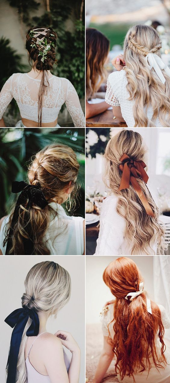 40 Different Types of Wedding Hairstyles that Look Gorgeous Wedding-hairstyles-with-ribbon