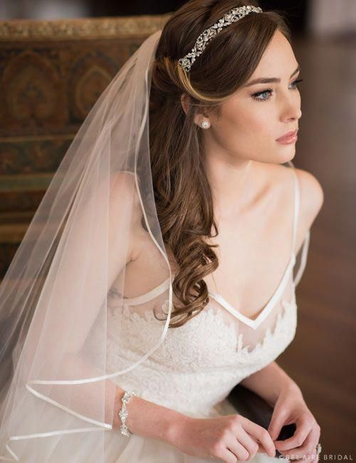 40 Different Types of Wedding Hairstyles that Look Gorgeous Wedding-hairstyles-with-veil-and-headband