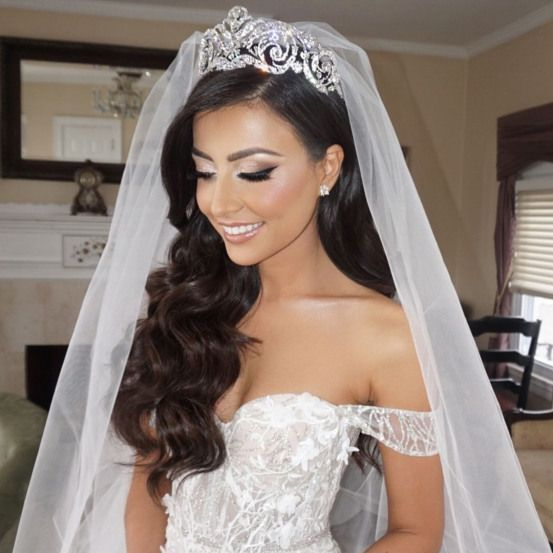 40 Different Types of Wedding Hairstyles that Look Gorgeous Wedding-hairstyles-with-veil-for-long-hair