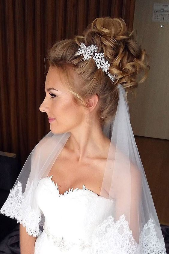 40 Different Types of Wedding Hairstyles that Look Gorgeous Wedding-hairstyles-with-veil-underneath