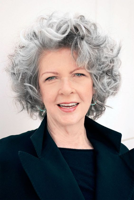 Grey Curly Hairstyle 6 Short Hairstyles 2020