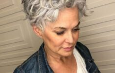 Appropriate Short Curly Hairstyles for Older Women in 2020 grey-curly-hairstyle-8-235x150