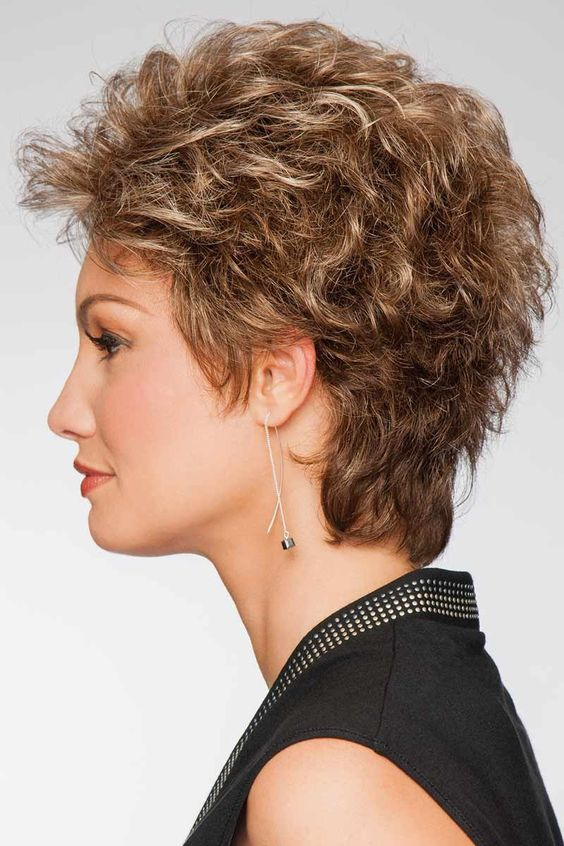 layered short curly hairstyles 5