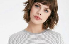 The Best Hairstyles for Women with Short Wavy Hair in 2020 short-bob-with-short-bangs-9-235x150