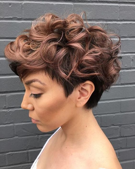 short curly wedge 7