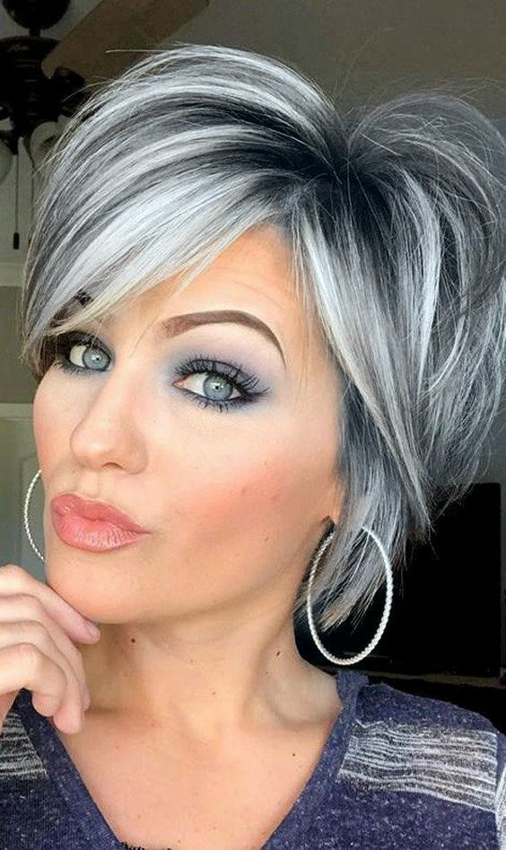 Timeless Short Layered Haircuts that Gorgeous for Older Ladies in 2020 short-straight-layered-asymmetrical-hairstyles-3