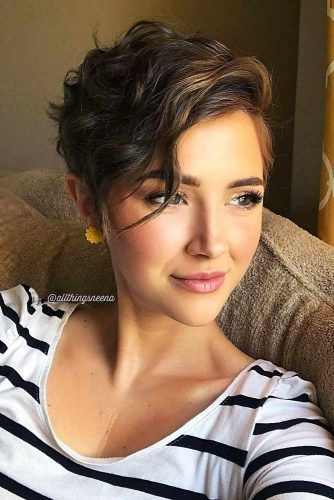 The Best Hairstyles for Women with Short Wavy Hair in 2020 wavy-pixie-cut-3