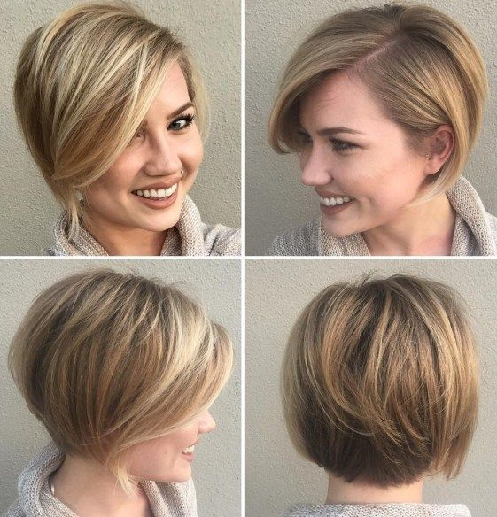 50 Bob Hairstyles for Round Faces that Looks Gorgeous f8e260ab89e806284908aced3382e9ca