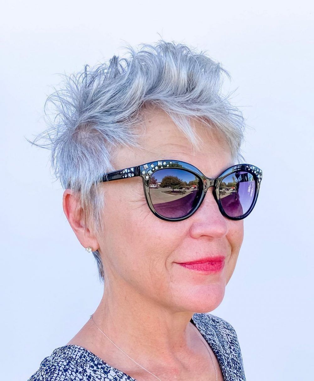 100 Short Haircut Styles for Over 50 Women in 2021 24c8d58e56e5f532bb25aa9a3caa9a41