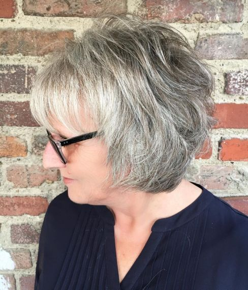 56 Short Hairstyles for Women Over 60 with Glasses (Updated 2021) 2ca590dd54a37c9f0b1a8f022edf6844