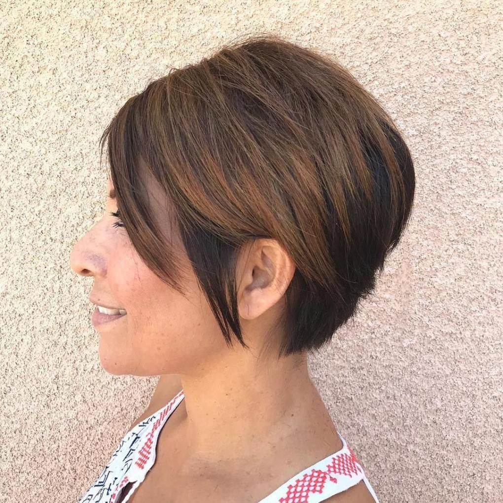 100 Short Haircut Styles for Over 50 Women in 2021 706b8b0e5d069ddc015d17643c3e44bd
