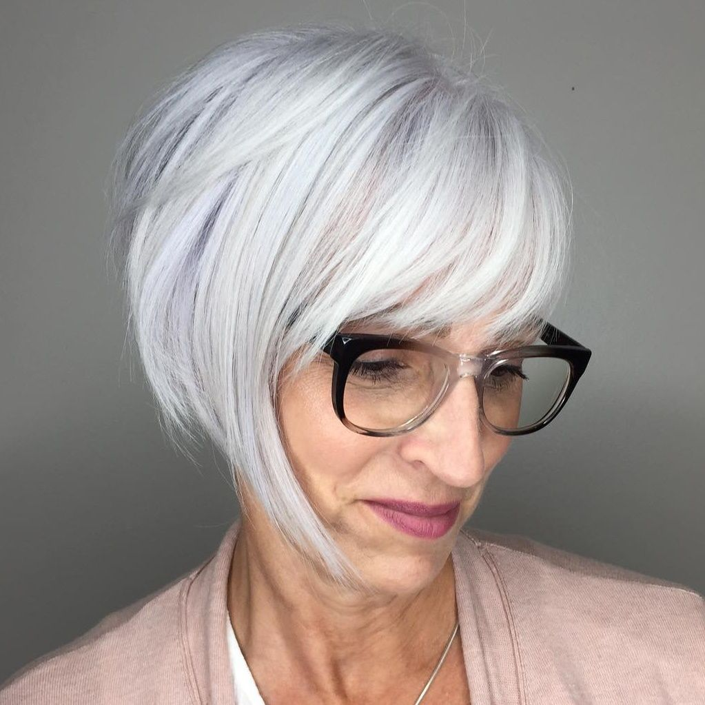 56 Short Hairstyles for Women Over 60 with Glasses (Updated 2021) ce81d3688c52c36faa4964c077722acf