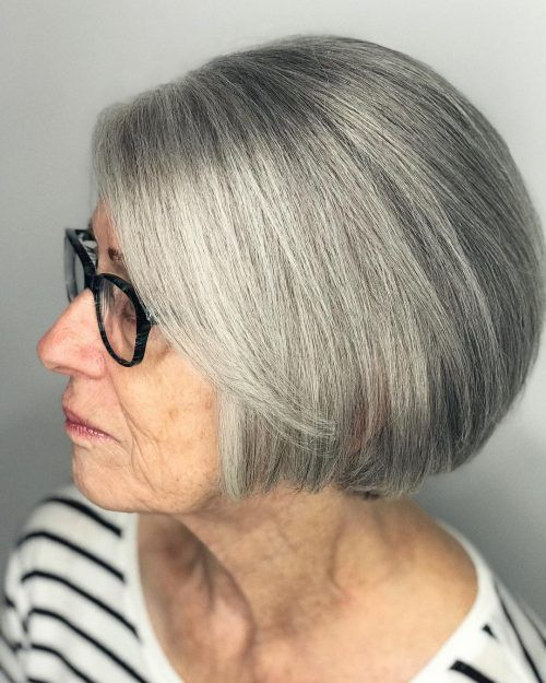 56 Short Hairstyles for Women Over 60 with Glasses (Updated 2021) d1872bd94a5ef876b63b4fd3eb87d74b
