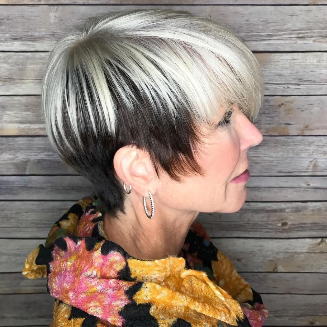 Short hairstyles for over 50 women with thin hair