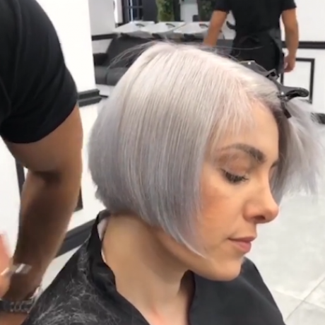 Short hairstyles for over 50 women withthin hair