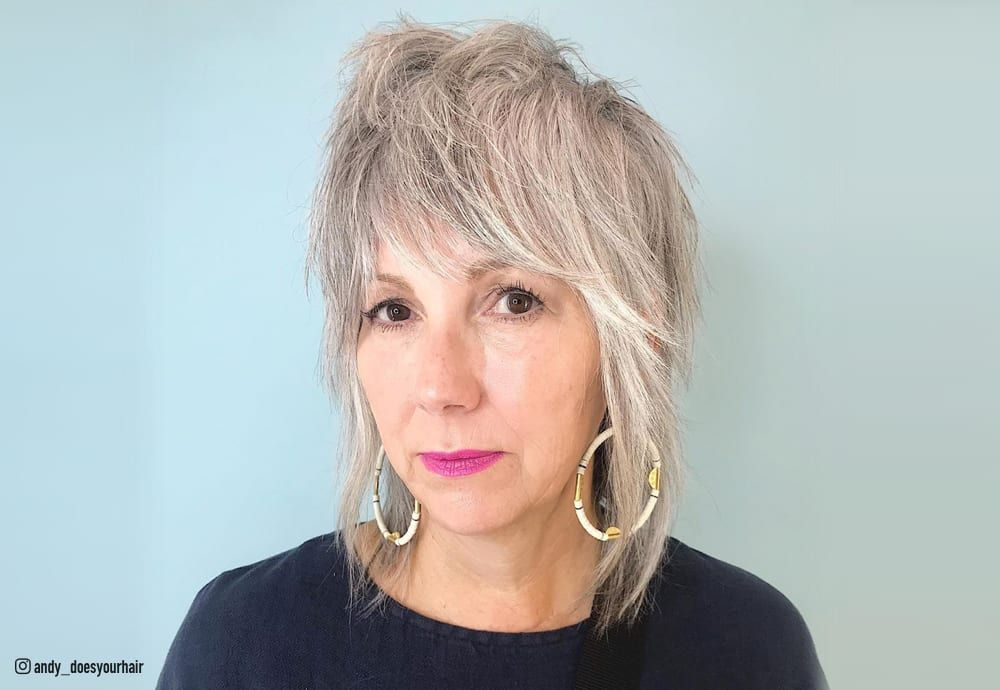 47 Best Shag Haircuts for Women over 50 That Is Easy To Try in 2021 6159724618425ead05d342ddf78ff51c