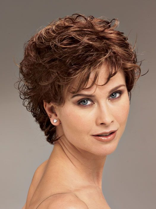 Permed short hairstyles for women over 50